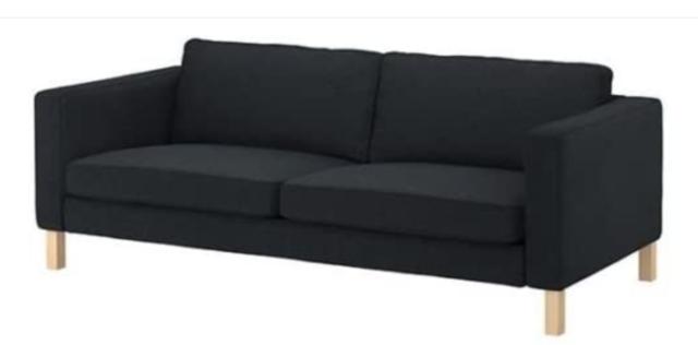 IKEA COVER For Karlstad Sofa 3 Seater Korndal Dark Gray Slipcover 902.032.01 For Sale Online | EBay
