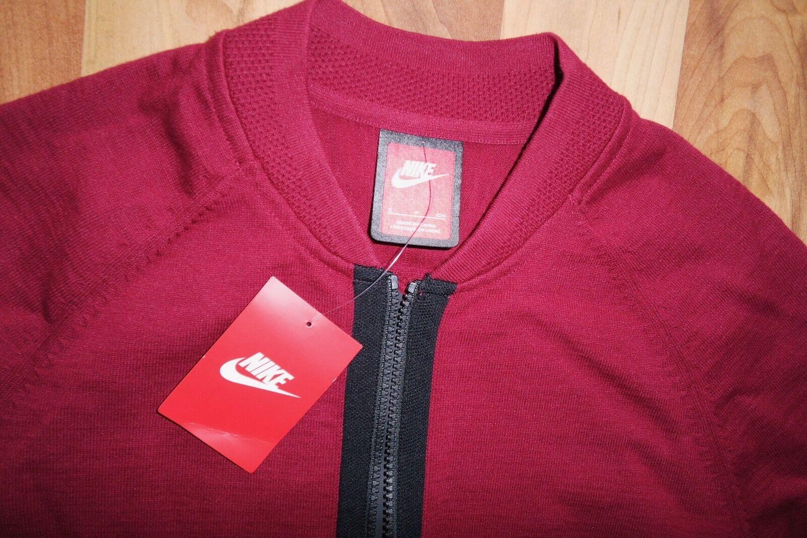 aab48080c Nike Sportswear Mens Tech Knit Bomber Jacket 810558 Jumper 677 S