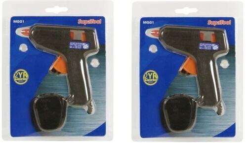 2x SupaTool DIY Craft Mini Hand Held Glue Gun with 4 Mini Glue Sticks FREE P/&P