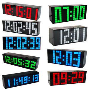 LED Digital Large Big Jumbo Snooze Wall Room Desk Calendar Alarm Clock 100-240V