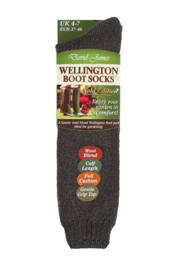 Womens 1 or 2 Pack Thick Loose Top Wool Cushioned Tall Knee High Rain Boot Socks