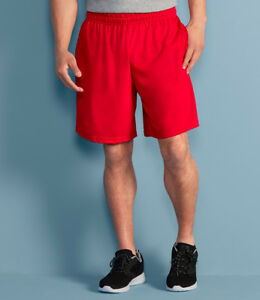 Gildan Performance Shorts Adult Mens Gym Sports Casual Wear Pocket Pockets With