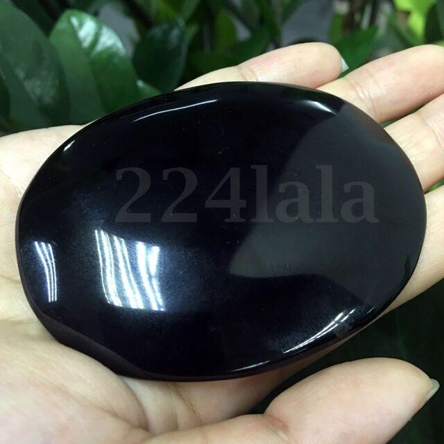 100mm Black Obsidian Scrying Mirror Crystal Gemstone