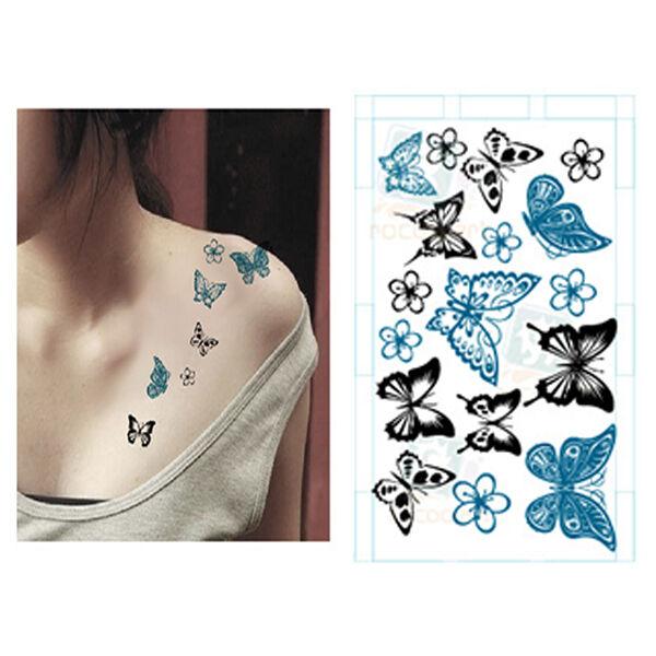 Sexy Fashion Butterfly Body Art Waterproof Elegant Temporary Tattoo Sticker DIY