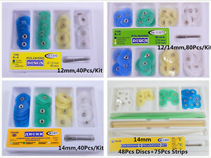 Dental-Polishing-Finishing-Disc-Wheel-Universal-Kit-Metal-Bush-12mm-14mm-Mandrel
