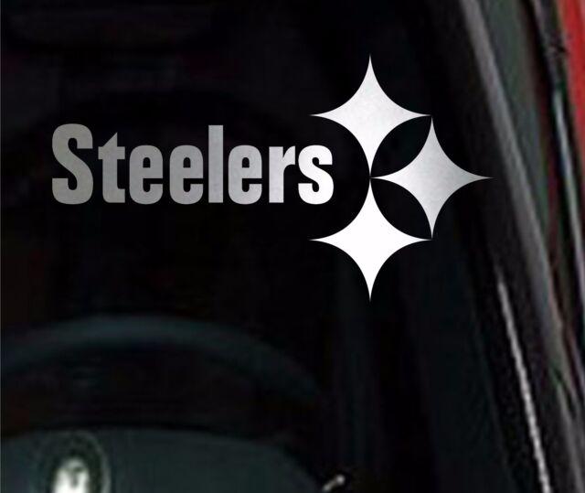 Pittsburgh steelers chrome 10 vinyl car truck decal window sticker