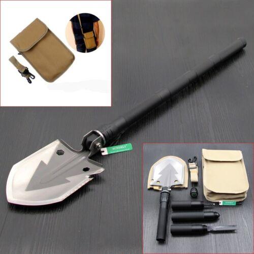 UK Multi-function Folding Shovel Camping Spade Hiking Military Outdoor Survival