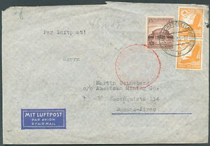 L-039-Allemagne-a-l-039-Argentine-Air-Mail-Cover-1938-VF