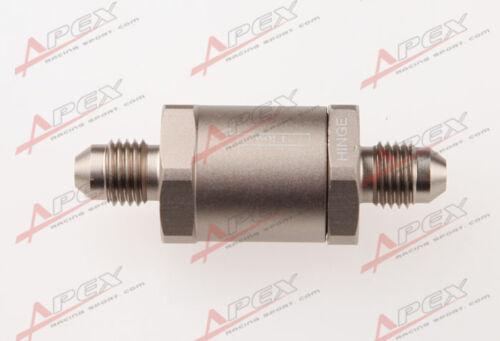 4AN AN4 AN-4 Aluminum High Pressure Non Return One Way Check Valve Petrol Diesel