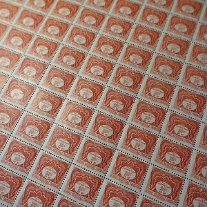 Feuille-Sheet-Aof-Africa-Occidentale-Francese-Tassa-N-1-x100-1947-Neuf-Mnh