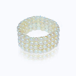 Cultured-Freshwater-6mm-Pearls-Expandable-4-Strand-Bracelet-set-w-80-pearls