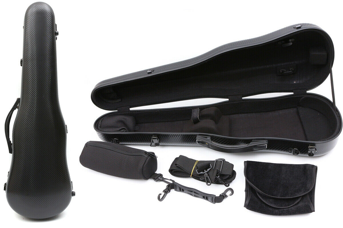 Advance Violin Case Mixed Carbon Fiber Strong Light Violin Box schwarz Farbe 4 4