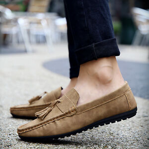 bbdbfbe088702 Men's Driving Moccasin Leather Loafers Casual Tassel Shoes 2018 New ...