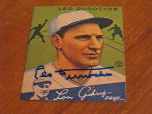 Leo-Durocher-Autographed-Baseball-Card-JSA-Auction-Cert