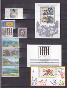 Brd-Sammlung-gestempelt-1994-2003-mit-Luecken-alle-Blocks-8-Michel