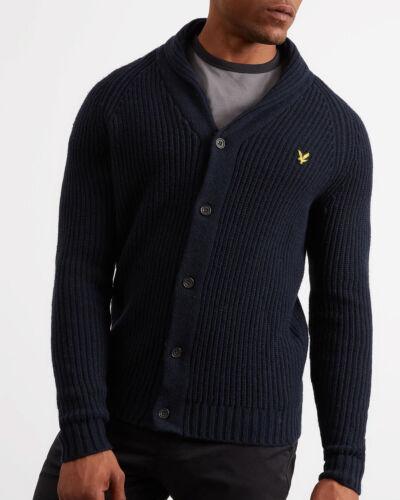 à mouton Navy Lyle col Pull Scott Navire Worldwide Cardigan Vintage châle de en laine ttTqv