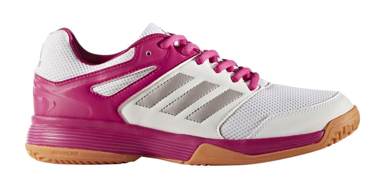 adidas Performance Damen Hallenschuh Speedcourt W weiß / silber / pink