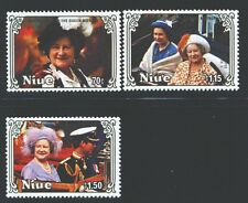 NIUE 476-78 SG587-89 MNH 1985 85th Birthday Queen Mother set of 3 Cat$4