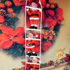 image is loading lovely christmas santa claus climbing on rope ladder