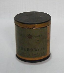 Old-Antique-Original-Trade-Mark-W-D-H-O-Wills-50-Cigarettes-Litho-Tin-Box