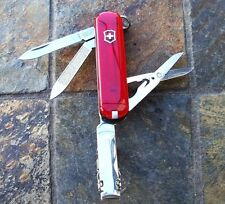 Victorinox NAIL CLIP 580 Original Swiss Army Knife RUBY Nail Clipper NEW!