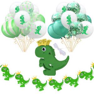 Dinosaur-Confetti-Latex-Balloons-Banner-Wedding-Birthday-Jungle-Party-Decoration
