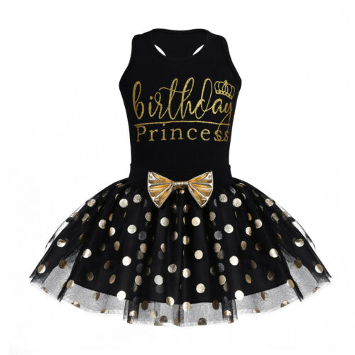 US Baby Birthday Kids Girl Clothes Outfit Tutu Skirt Dress+Top T-shirt Party Set