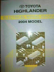 2004 TOYOTA HIGHLANDER ELECTRICAL WIRING DIAGRAM SERVICE MANUAL (RX400) |  eBayeBay