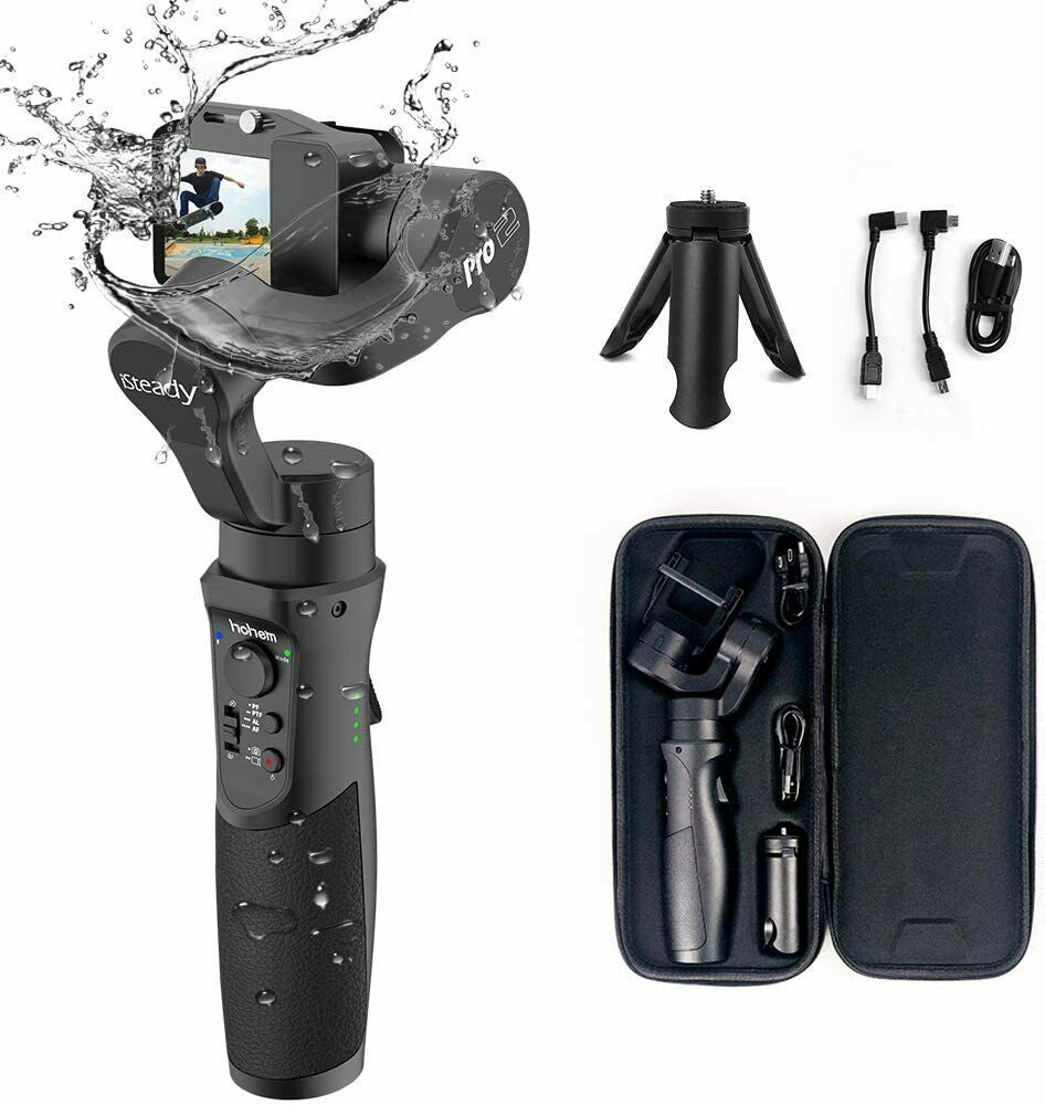 RuleaxA 3-Axis Handheld Gimbal Stabilizer Selfie Stick 360 Degrees Rotation Inception Mode for Phones /& Action Cameras