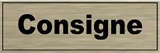 Plaque de porte aluminium brossé Signalétique de porte- Consigne