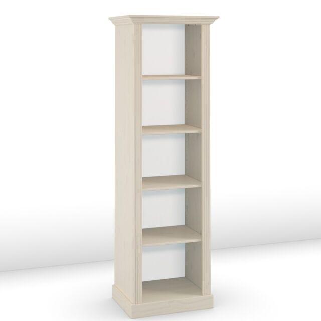 STEENS Bücherregal MONACO Regal Landhausstil Kiefer Massivholz White-Wash