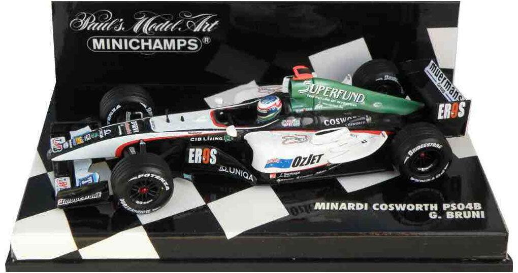 Minichamps Minardi F1 PS04B 2004 - Gianmaria Bruni 1 43 Scale