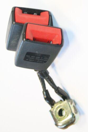 VW Polo Seat Fibbia Della Cintura Doppio Posteriore centrale NERO 2002 a 2004 6q0 857 488 C