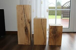 holzklotz massiv eiche deko klotz 20 x 20cm holzblock. Black Bedroom Furniture Sets. Home Design Ideas