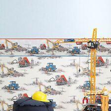 RASCH CONSTRUCTION WALLPAPER - 293500 - TRACTOR TIPPER