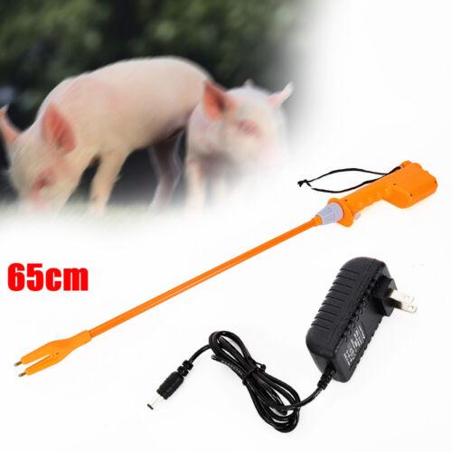 65cm RECHARGEABLE Electric Livestock Cattle Prod Safety Shock Prodder 220V