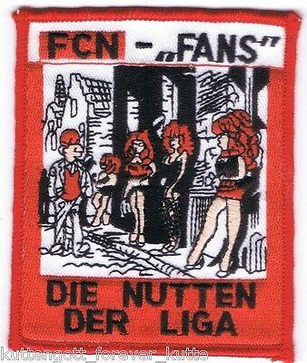 "Anti Nürnberg Aufnäher "".. der LIGA"" Kutte Weste Fan Patch Block + neu +"