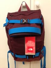 """NEW The North Face Pickford Rolltop Backpack Rucksack 17"""" Laptop Bag Red Blue"""