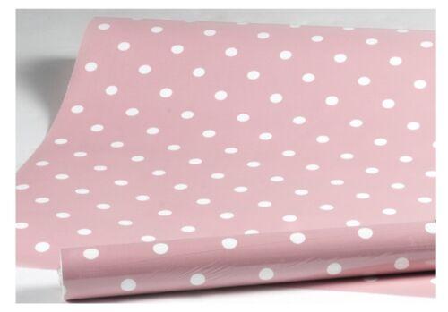 Película adhesiva Lámina de muebles rosa puntos dots vintage lámina autoadhesiva 45 x 200 cm