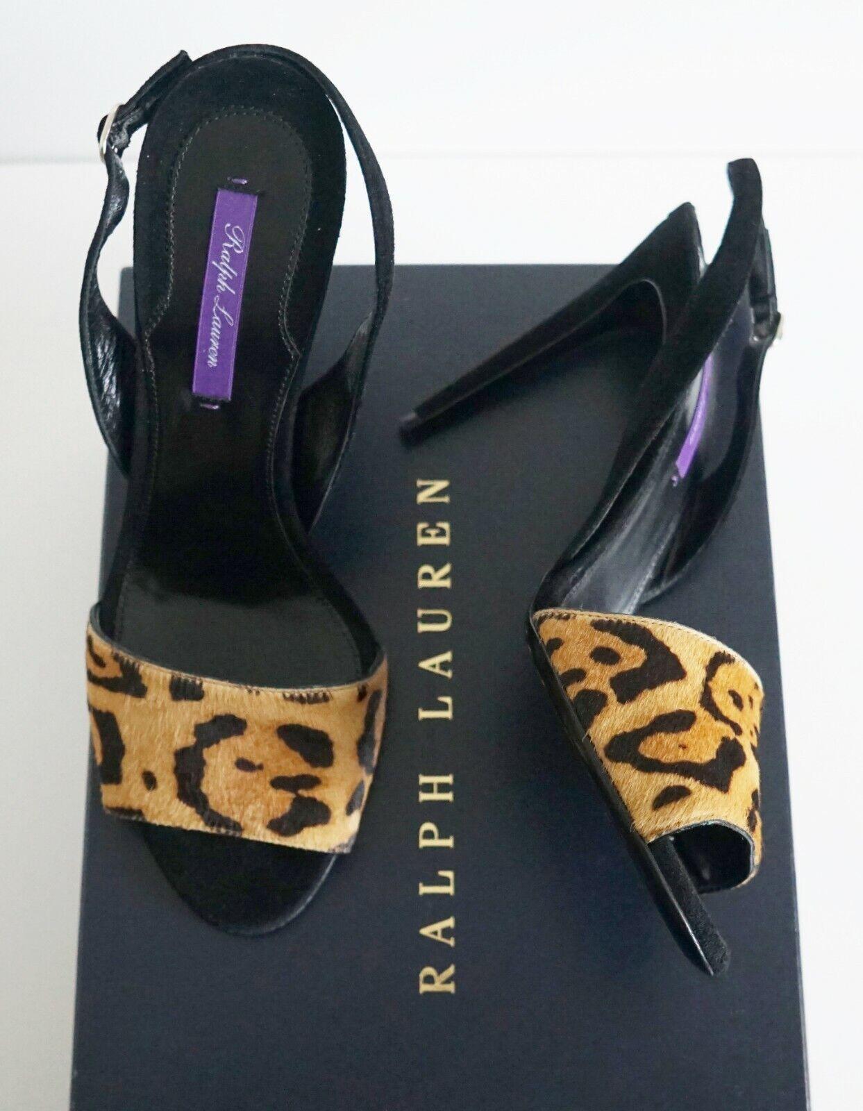 RALPH LAUREN COLLECTION lila Label BLITHE Calf Hair Pumps Sandals EUR-38B US-8