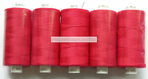 5-x-RED-MOON-POLYESTER-SEWING-THREADS-COTTON-120s-216
