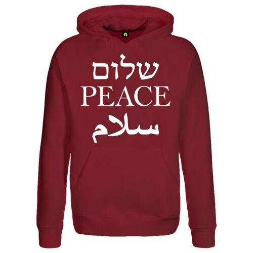 Peace con cappuccio PulloverSalamShalomJaypaceTourZ