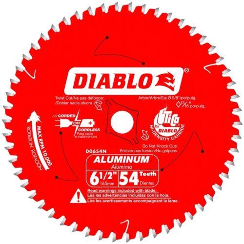 FREUD Diablo D0654NA 6-1//2 in x 54 Tooth Medium Aluminum Cutting Saw Blade New