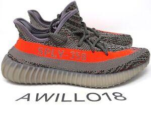 7ca27b79e Adidas Yeezy Boost 350 V2 Beluga OG 1.0 Grey Orange UK 4 5 6 7 8 9 ...