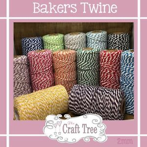 Bakers Twine Wedding Party Crafts Cord String Ribbon 100% cotton 2mm