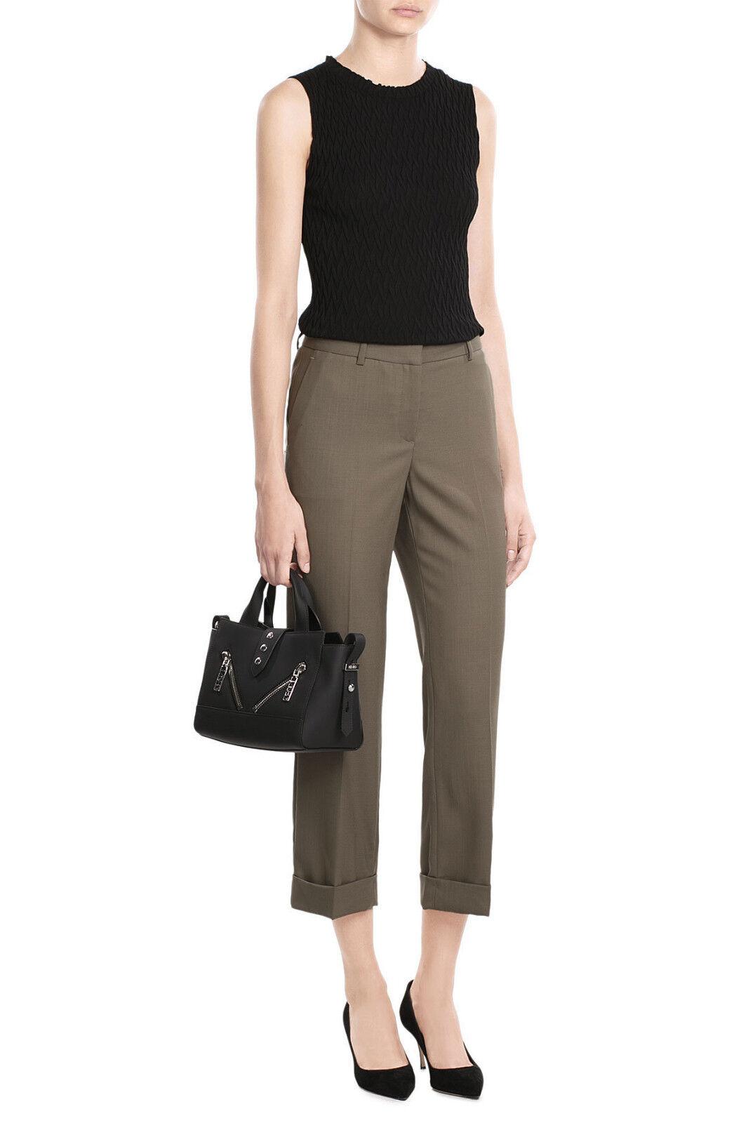 NWT Theory HEZE Military Contour Cropped Wool Cuffed Pants sz 0