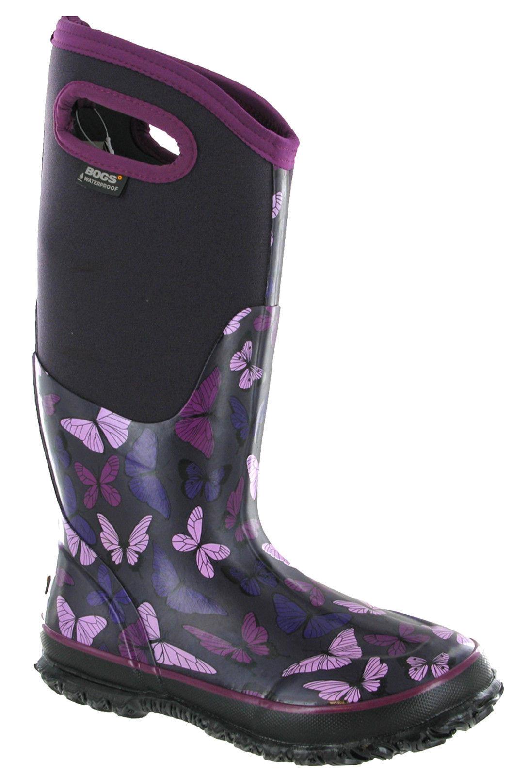Bogs Wellingtons Stiefel Neoprene - Damenschuhe Butterfly Waterproof Winter - Neoprene 40c 72115 24a7d5