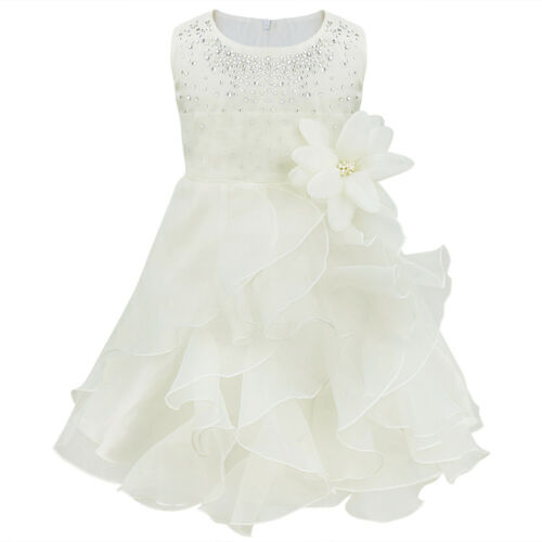 Toddler Baby Girl Dress Flower Girl Dress Princess Party Wedding Birthday Gown