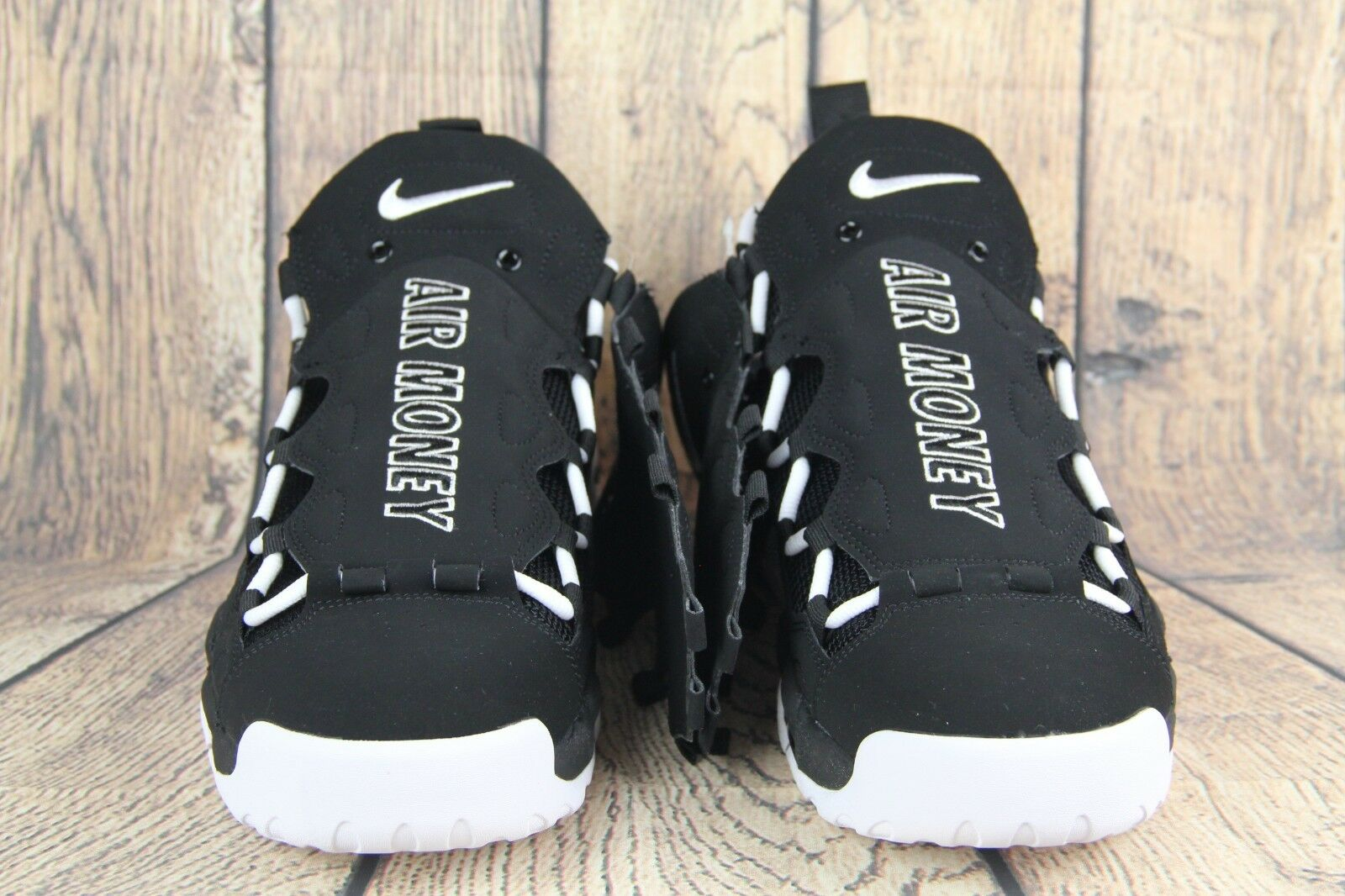 Nike air max piu 'soldi di rara Uomo ritmo bianco nero aj2998-001 sz 10