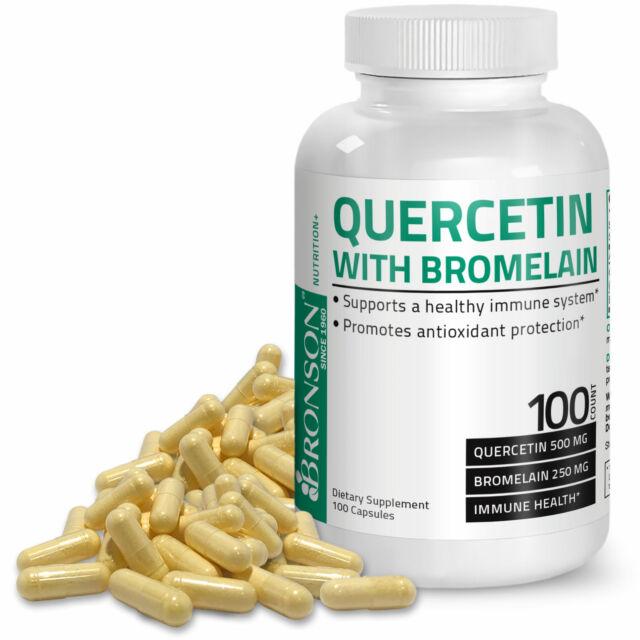 Bronson Quercetin and Bromelain, Antioxidant Immune System Support, 100 Capsules